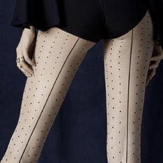 Intrigue seamed spot tights