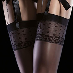Isis patterned top stockings