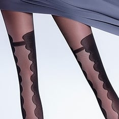 Ivette model 7 cutaway opaque fashion tights