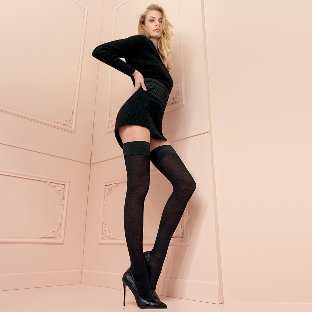 e21c68f69 Trasparenze Jennifer 100 denier merino wool opaque hold-ups at Stockings HQ  the Trasparenze Hold-ups shop
