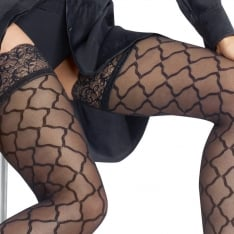 Le Bourget Bas Top Allure microtulle patterned hold-ups