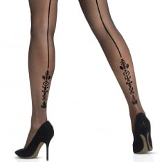 Le Bourget Bas Top Select baroque backseam hold-ups