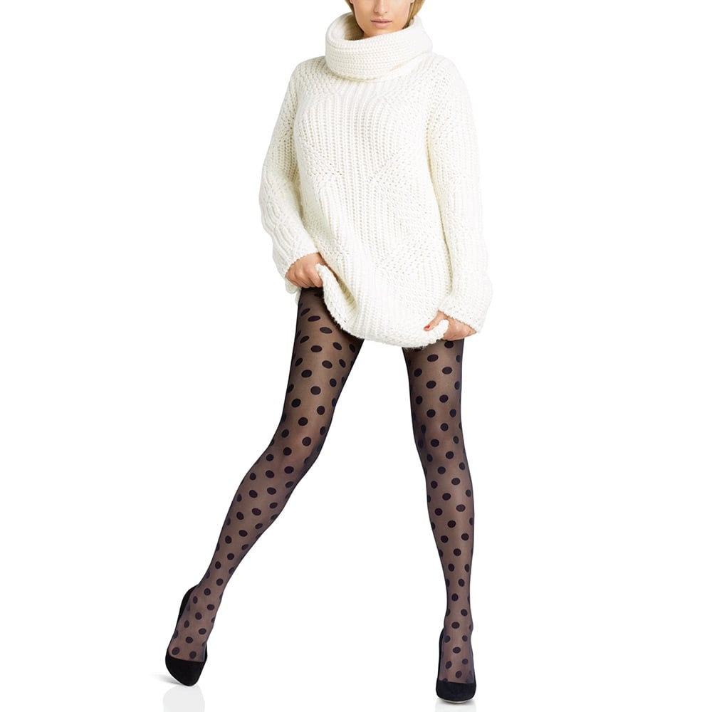 Le Bourget Legendaire polka dot sheer tights