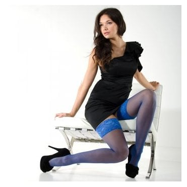 Nylonica Linea Classica sheer 15 lace top hold-ups - classic colours
