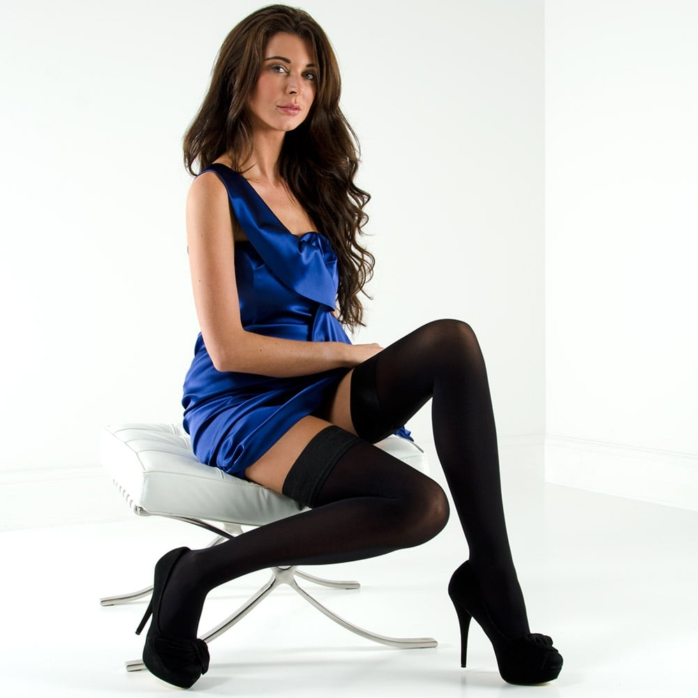9b05c3883 Nylonica Linea Lusso Microfibre 55 hold-ups at Stockings HQ