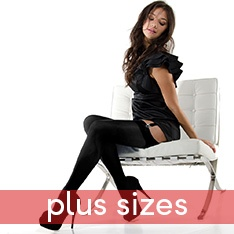 Linea Lusso Microfibre 55 opaque stockings - PLUS SIZE