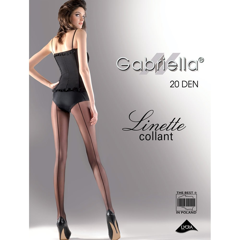 Gabriella Linette backseam 20 denier sheer tights