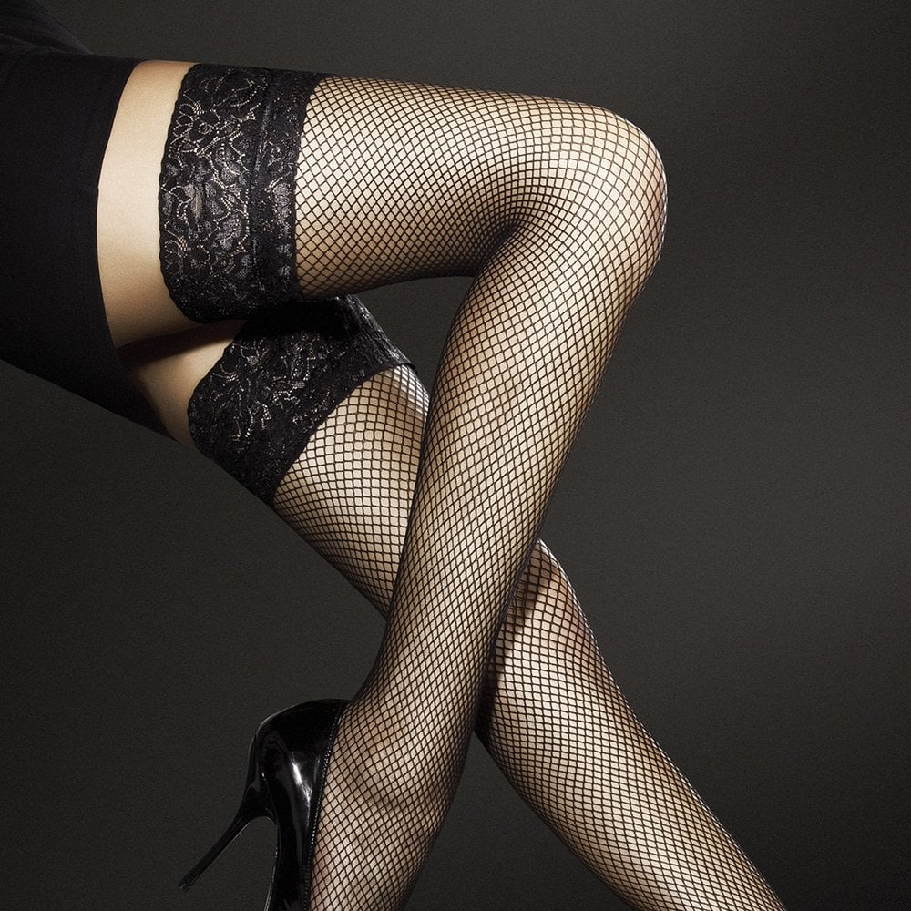 527d3102f Fiore Liza Fishnet Hold-ups at Stockings HQ  The Fiore Hold-ups Shop