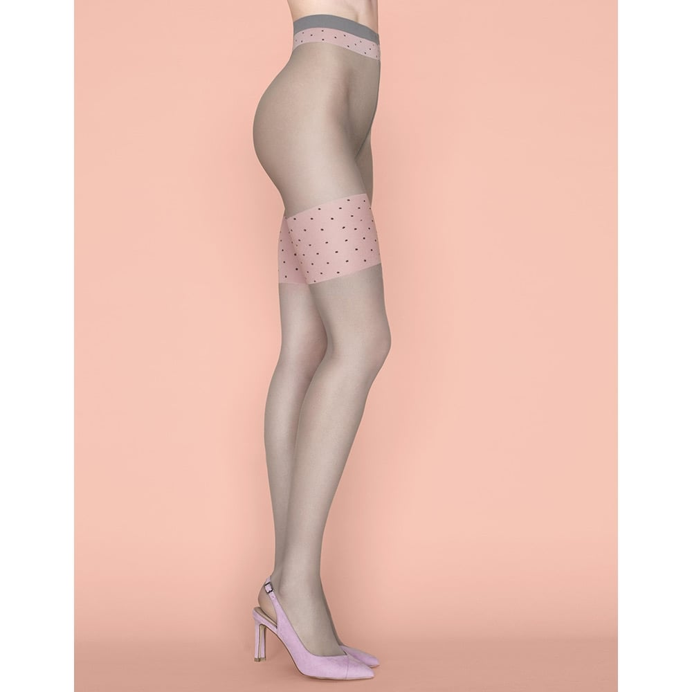 5931f241a Fiore Lolita contrast top faux hold-up tights at Stockings HQ the ...