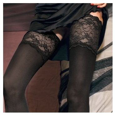 Trasparenze Lucrezia 70 denier opaque deep lace hold-ups