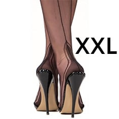 Manhattan heel ff stockings - XXXL 12.5 - SECONDS