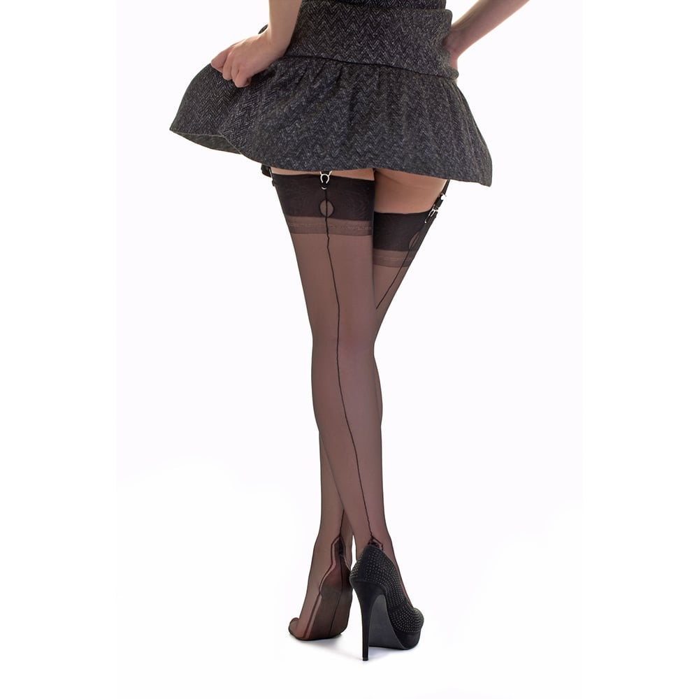539f04bf2 Gio manhattan heel fully fashioned stockings at Stockings HQ