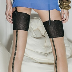 Mary Pickford lurex seam stockings