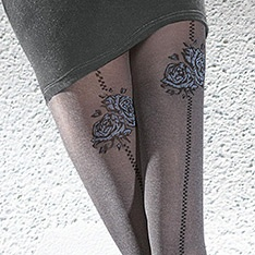 Meria melange backseam rose tights
