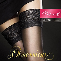 Milena 20 denier sheer lace top hold-ups