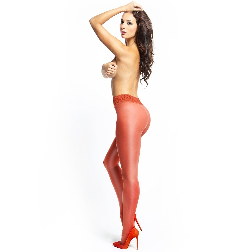 6a2d33946117f missO P105 shiny 20 denier open crotch lace band tights at Stockings ...