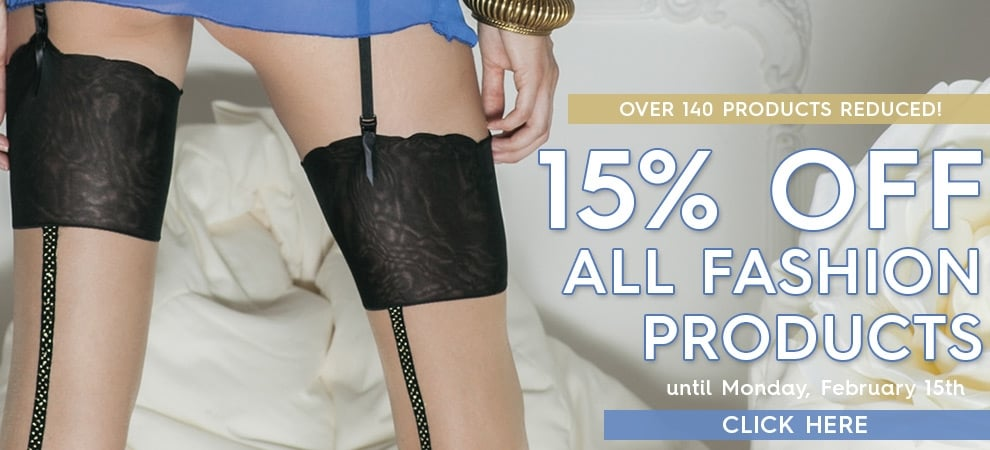 Save 15% off all fashion products