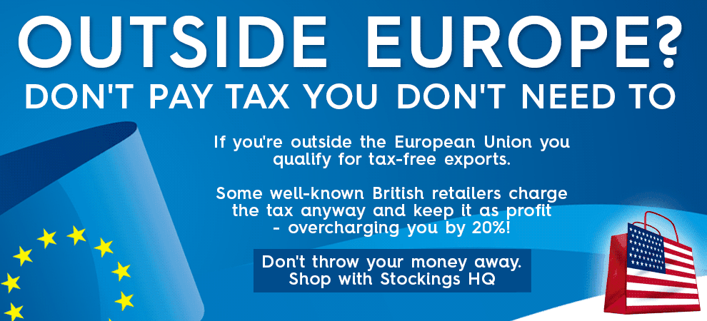 Stockings HQ - always tax free exports outside the EU
