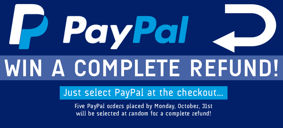 Win your order free with PayPal