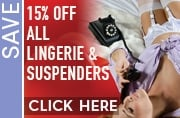 15% off suspenders and lingerie this week