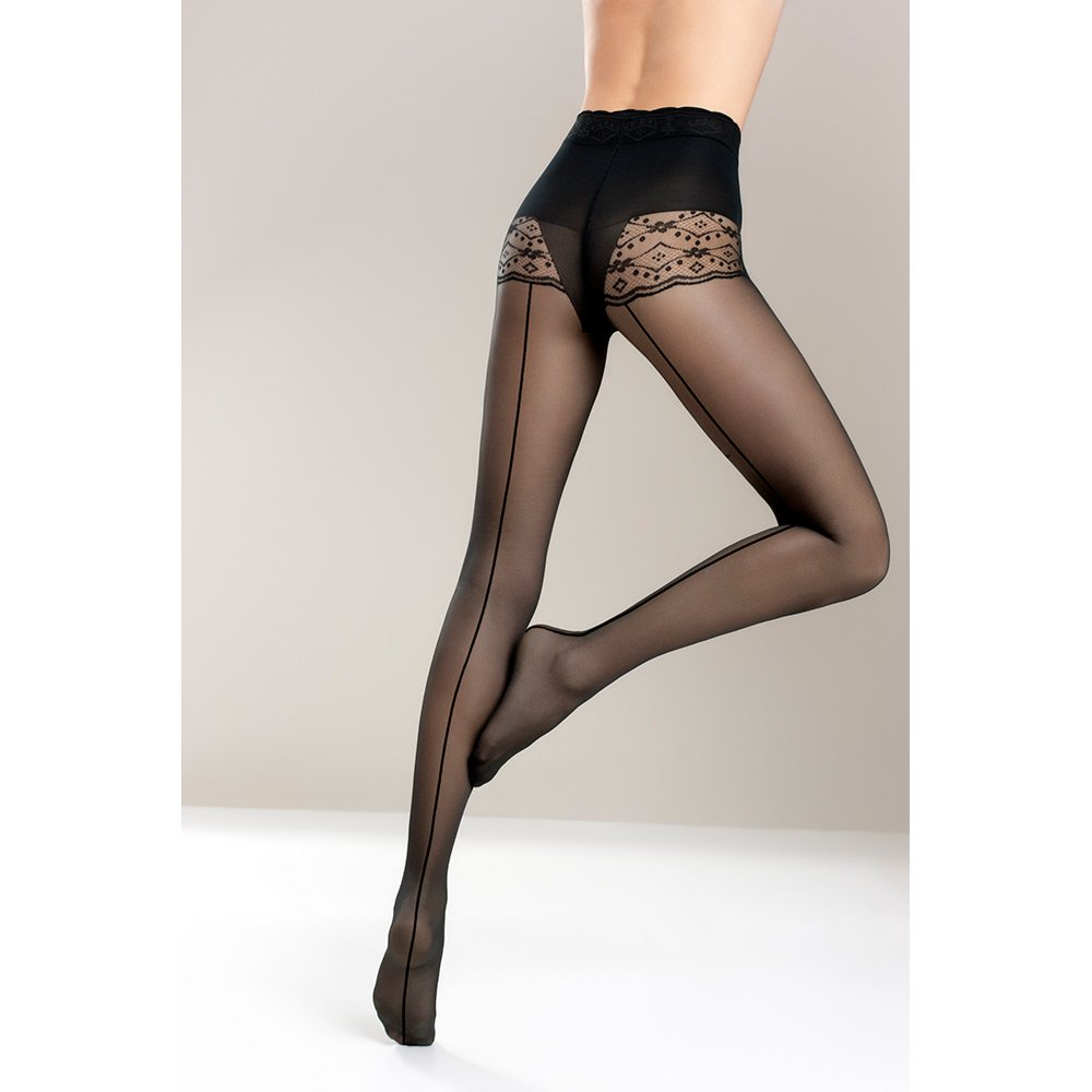 Mona Bikini Valentine 03 Riga seamed tights
