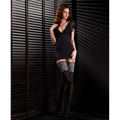 Mona Black Edition Soiree 01 40 denier microfibre opaque hold-ups