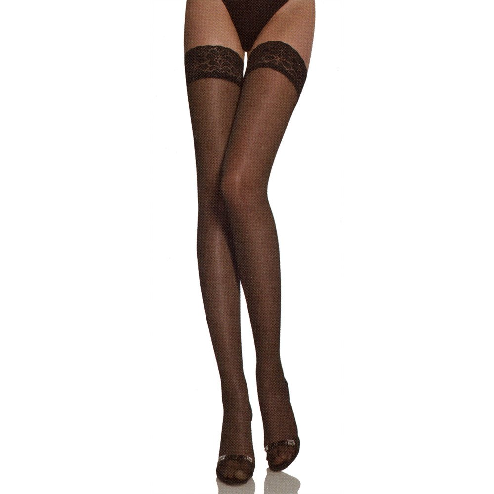 Surplus semi-opaque hold-ups with lace top - END OF LINE - SAVE 50%!
