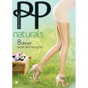 Pretty Polly Naturals 8 denier secret slimmer tights - END OF LINE - SAVE 34%