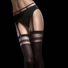 Fiore Nell opaque heart band stockings