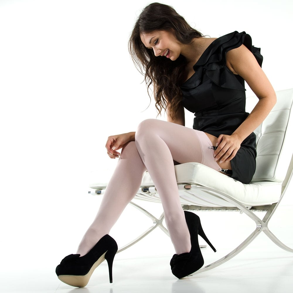 Nylonica Linea Lusso Microfibre 55 stockings - PLUS SIZE - end of line colours - SAVE 50%!