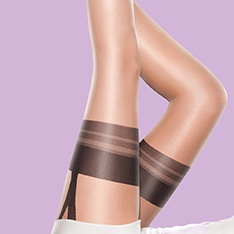 Nylons Gloss Mock suspender tights