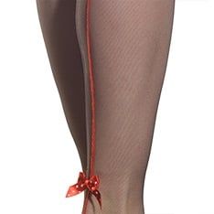 Papillion backseam bow microtulle hold-ups - LIMITED EDITION