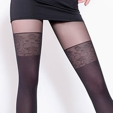 Pari model 19 faux hold-up tights