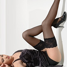 Paris luxury lace top hold-ups
