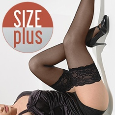 Paris Size Plus luxury lace top hold-ups