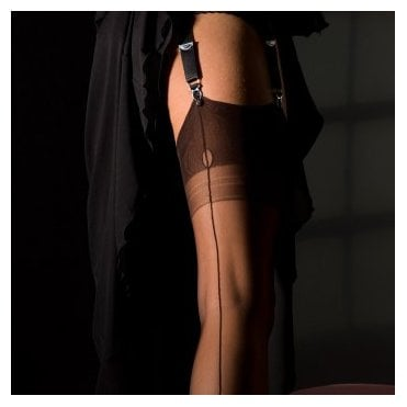 Eleganti Point heel FF stockings - PLAIN COLOUR - SECONDS