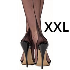 point heel ff stockings - XXXL 12.5 - SECONDS