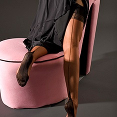 Point heel fully fashioned stockings - FULL CONTRAST - PERFECTS