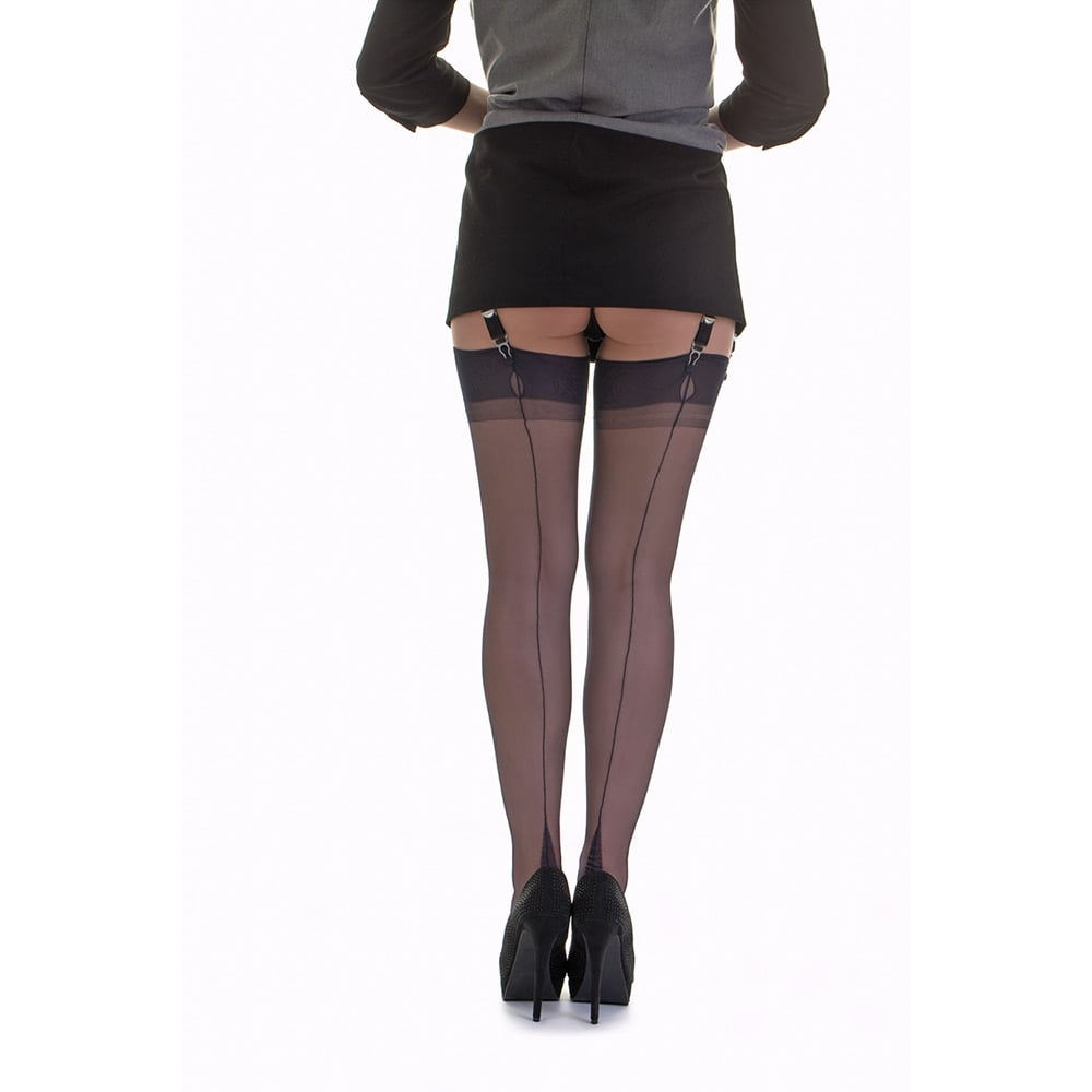 00588243d Gio point heel fully fashioned stockings at Stockings HQ  The FF Shop