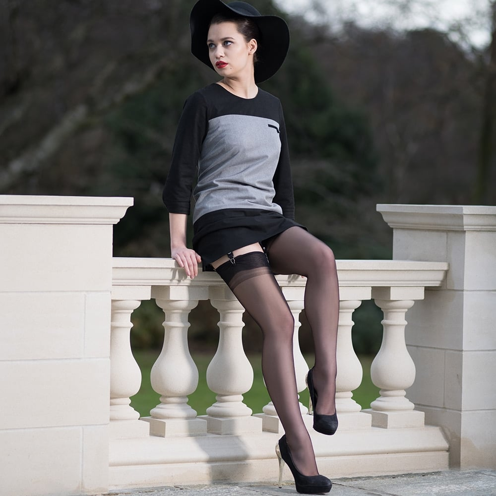 Gio Point Heel Fully Fashioned Stockings At Stockings Hq