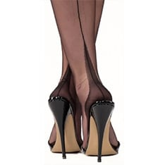 point heel fully fashioned stockings - SECONDS
