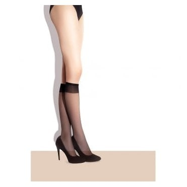 Fiore Pola 15 sheer knee highs - 2 pair pack
