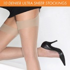 10 denier ultra-sheer stockings