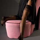 Point heel fully fashioned stockings - CONTRAST SEAM - SECONDS