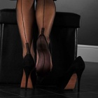Cuban heel FF stockings - PLAIN COLOUR - SECONDS