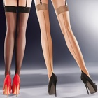 Lido contrast seamed stockings