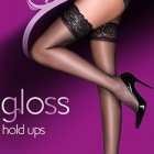 Everyday Plus 10 denier gloss lace top hold-ups