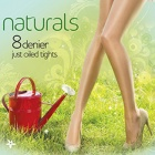 Naturals 8 denier oiled tights