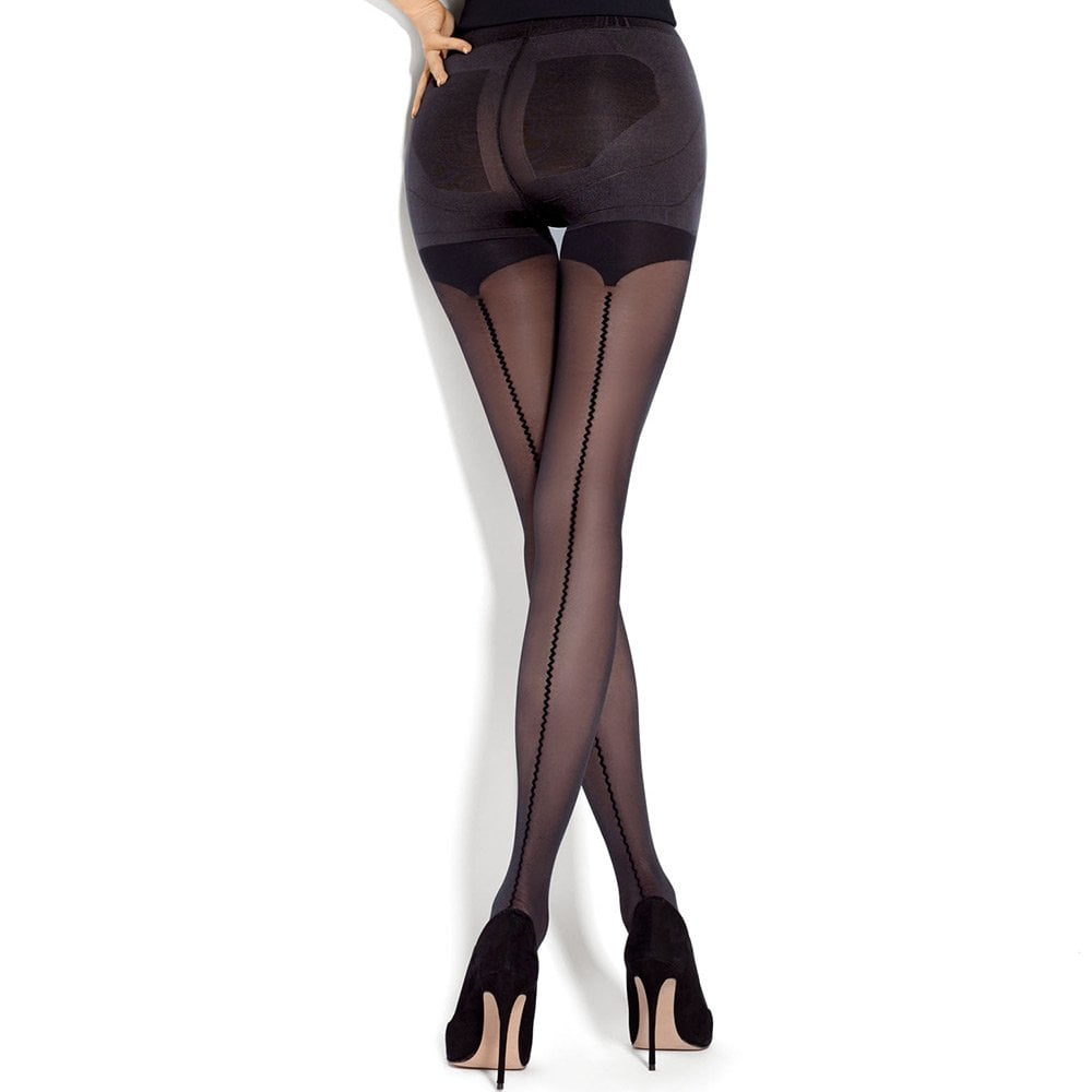 3d45bbbf319 Mona Push-Up Allure seamed control top tights at Stockings HQ the ...