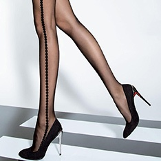 Redona 20 denier side pattern tights